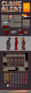 Clone Alert 2D Game Art