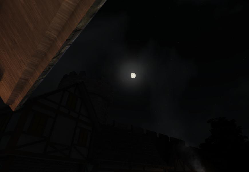 Medieval Town Night Sky